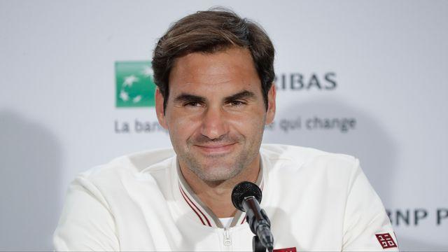 Federer s'est présenté à la presse avec le sourire. [Stéphane Allaman - AFP]