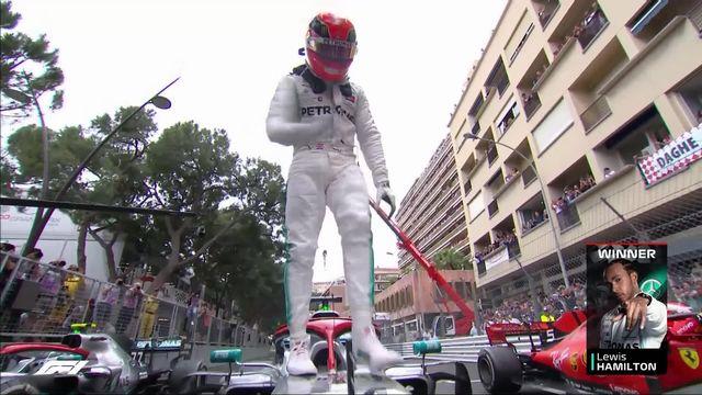 GP de Monaco (#6): 4 victoires de la saison pour Lewis Hamilton (GBR) devant Vettel (GER) 2e et Bottas (FIN) 3e [RTS]