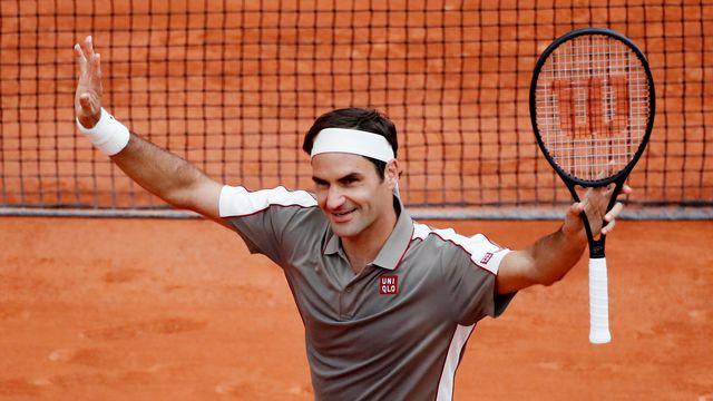 Roger Federer a maîtrisé son sujet face à Lorenzo Sonego. [Christian Hartmann - Reuters]