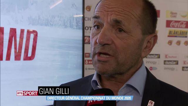 Hockey: Championat du Monde 2020, Gian Gili au micro de la RTS [RTS]