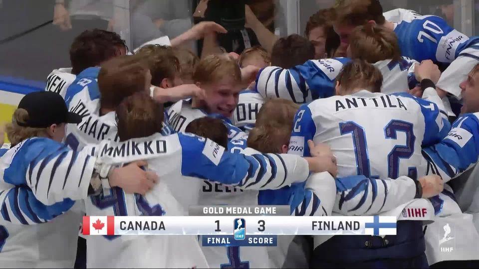 Finale, Canada – Finlande (1-3): les meilleurs moments du titre mondial des Finlandais [RTS]