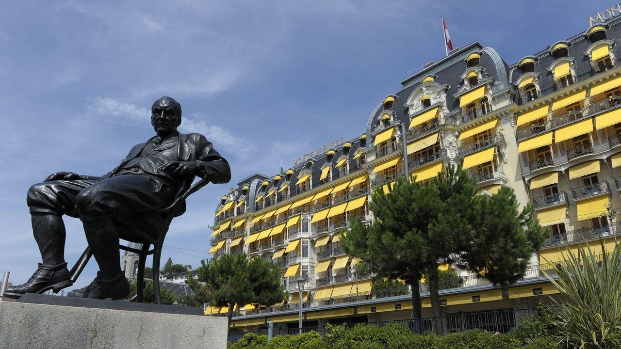 Le Montreux Palace accueille la 67e réunion de Bilderberg. [Laurent Gillieron - KEYSTONE]