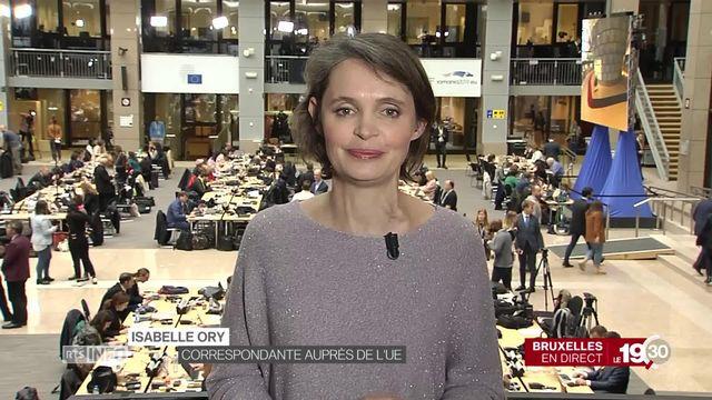 """Isabelle Ory. """"Les potentiels successeurs de Jean-Claude Junker vont continuer à défendre les intérêts de l'UE face à la Suisse. [RTS]"""
