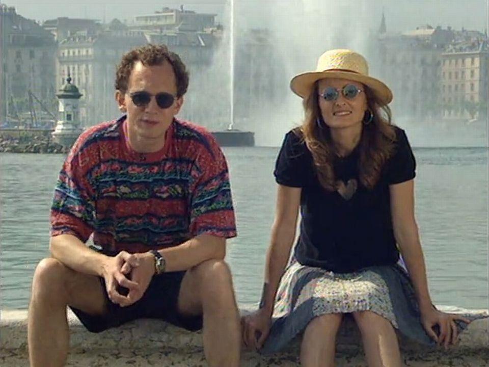 Jean-Paul Cateau et Martina Chyba parlent d'énergie solaire dans cette émission A bon entendeur de 1996. [RTS]