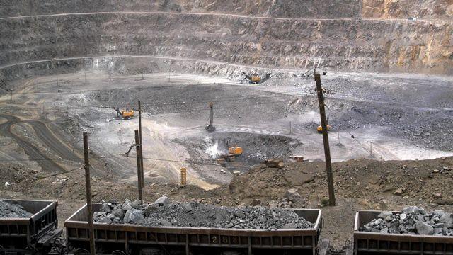 Une mine de terre rare en Chine. [AP Photo - Keystone]