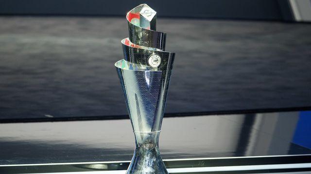 Le trophée de la la Ligue des nations. [Salvatore Di Nolfi - Keystone]