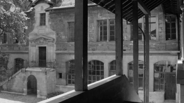 Le Collège Calvin de Genève en 1966. [RTS]