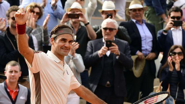 Federer atteint le 3e tour sans avoir perdu de set. [Caroline Blumberg - Keystone]