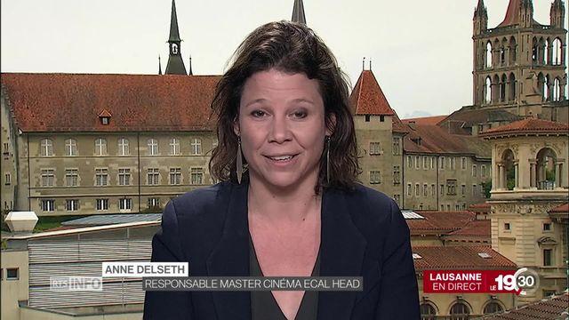 """Anne Delseth """"C'est une bonne nouvelle pour le cinéma suisse qui est subventionné et qui a besoin de cet argent."""" [RTS]"""