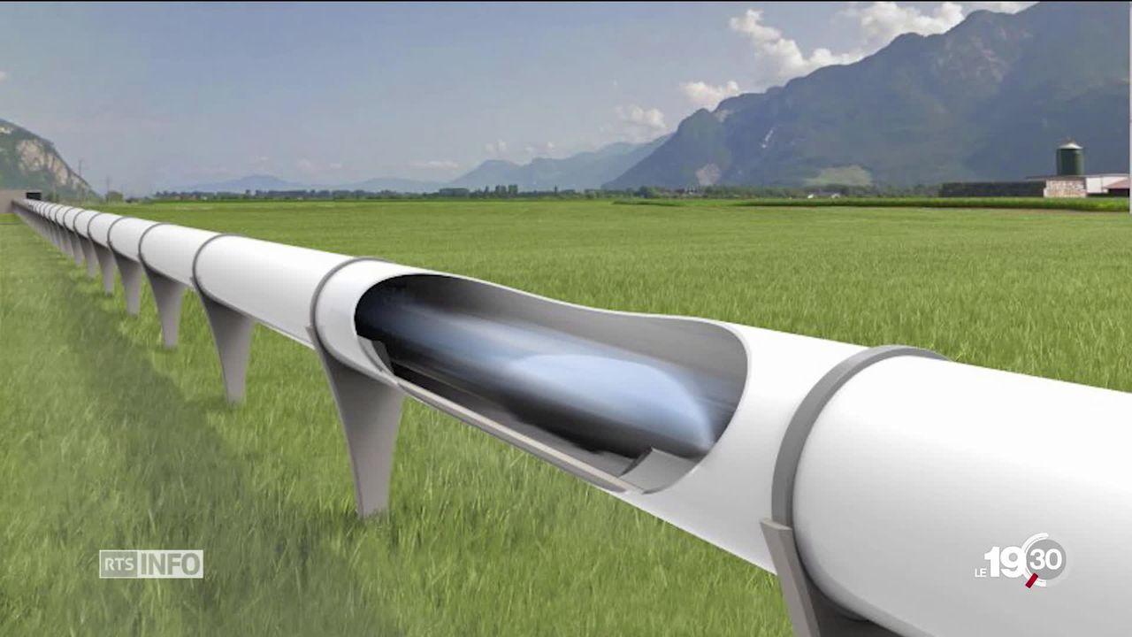 L'EPFL a présenté son prototype pour participer à l'Hyperloop 2019 à Los Angeles. [RTS]