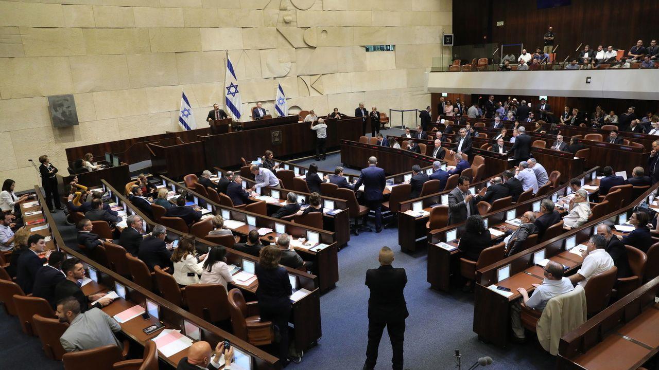 Vue de la Knesset, lors du vote sur la dissolution du Parlement israélien, ce 30 mai 2019.