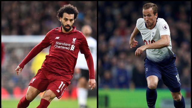 Qui de Mohamed Salah ou Harry Kane soulèvera la Coupe aux grandes oreilles samedi? [Glyn Kirk - AFP]