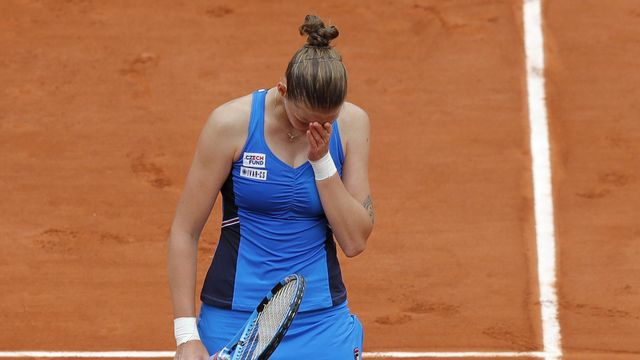 Karolina Pliskova n'a pas trouvé la solution face à Petra Martic. [Michel Euler - Keystone]