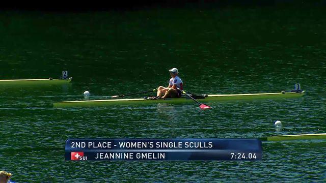Rotsee (LU), skiff pour léger dames: Jeannine Gmelin (SUI) se classe 2e [RTS]