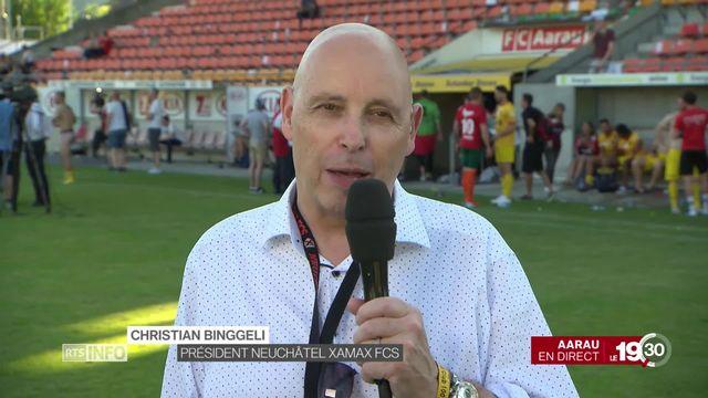 Victoire de Xamax: la réaction du président du club, Christian Binggeli [RTS]