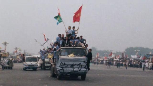 Temps présent est au coeur de la contestation chinoise en mai 1989. [RTS]