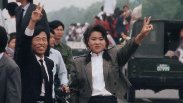 Au coeur des événements de la place Tiananmen en mai 1989. [RTS]