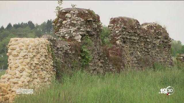 A Avenches, 10 ans de travaux prévus pour redonner à l'enceinte romaine sa splendeur d'antan. [RTS]