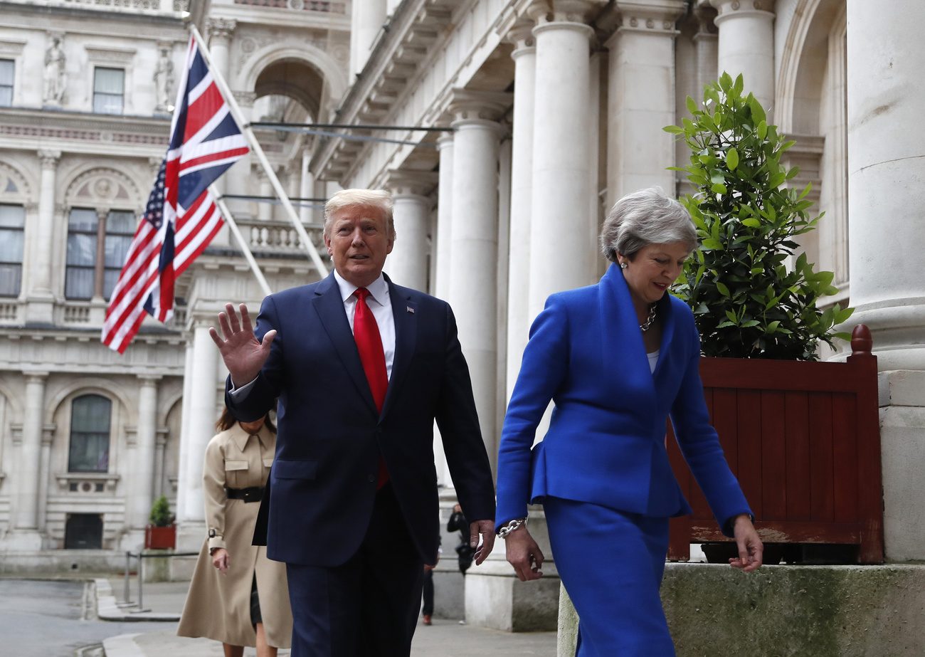 Donald Trump et Theresa May, le 4 juin 2019.