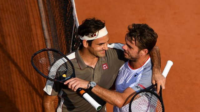 Roger Federer s'est imposé en 3h35' contre Wawrinka. [Martin Bureau - AFP]