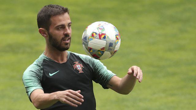 Bernardo Silva sera très certainement un danger permanent pour la Suisse. [Luis Vieira - Keystone]