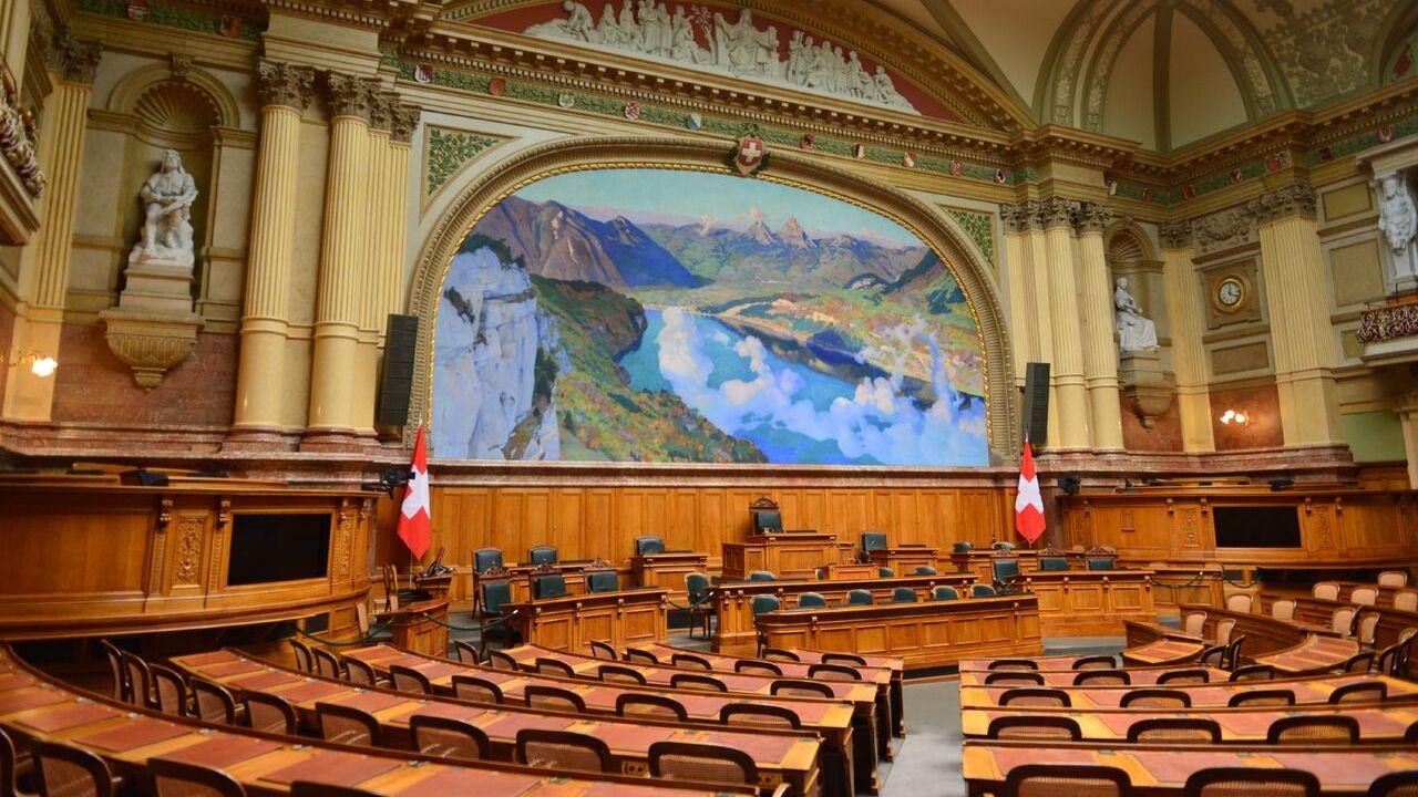 La salle du Conseil national à Berne. Thierry Basset RTS [Thierry Basset - RTS]