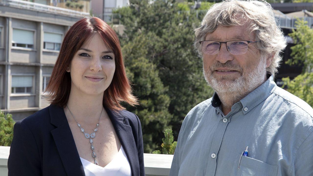 Anaïs Timofte et Bernard Borel, candidats du POP vaudois aux deux Chambres fédérales. [François Graf  - POP ]