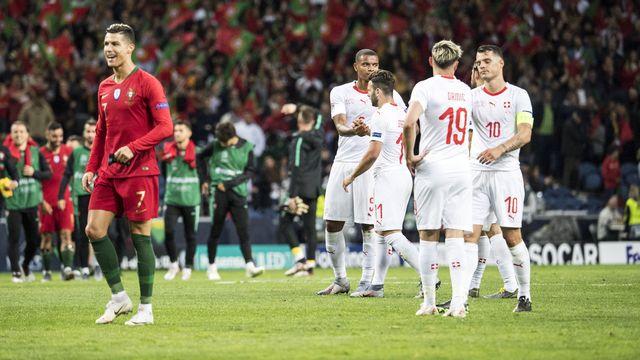 Ronaldo a marqué de son empreinte cette partie. [Jean-Christophe Bott - Keystone]