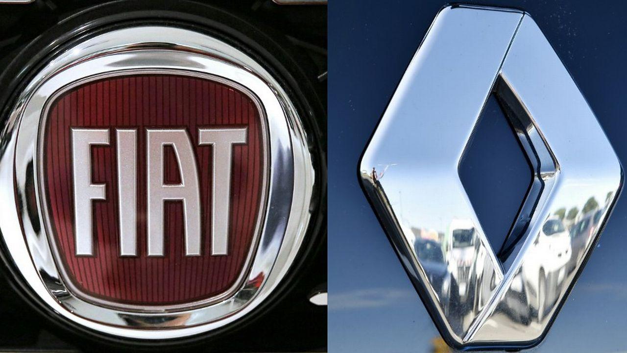 Fiat Chrysler et Renault veulent former un géant mondial de l'automobile. [Loïc Venance/Marco Bertorello - AFP]
