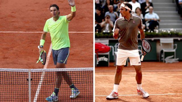 Nadal et Federer s'affronteront vendredi pour la 39e fois. L'Espagnol mène 23-15. [S.Suki / Y.Valat - Keystone]