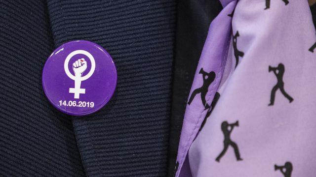 Avec la grève feministe du 14 juin 2019, les femmes revendiquent plus de temps, plus d'argent et du respect. [Peter Klaunzer - Keystone]