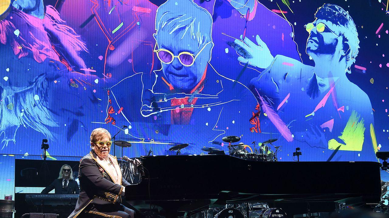 Elton John en concert à New York le 5 mars 2019. [Jamie McCarthy - GETTY IMAGES NORTH AMERICA / AFP]