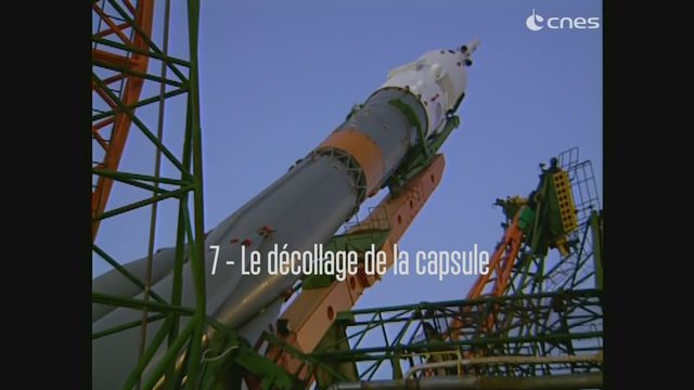 Claudie Haigneré, astronaute - Le décollage de la capsule [RTS]