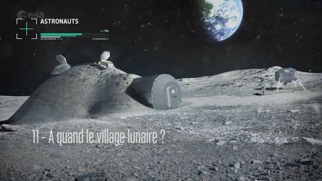 Claudie Haigneré, astronaute - A quand le village lunaire? [RTS]