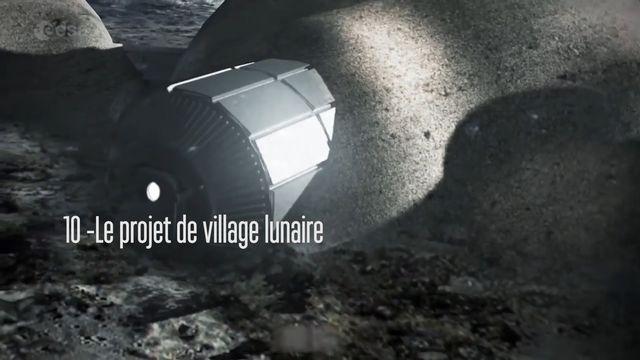 Le projet de village lunaire. [RTS]