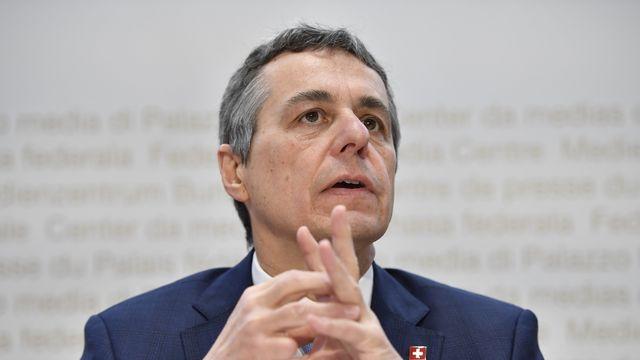 Le conseiller fédéral Ignazio Cassis. [Anthony Anex - Keystone]