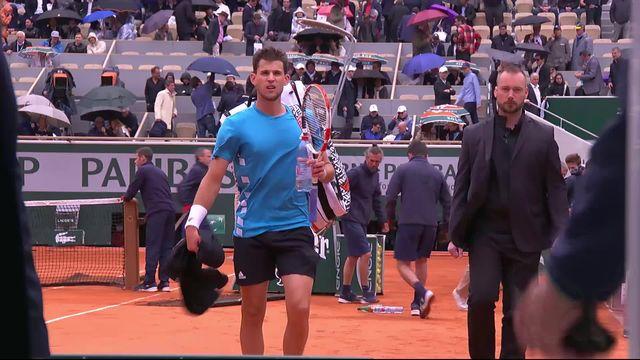1-2, N.Djokovic (SRB) – D.Thiem (AUT) 2-6, 6-3, 1-3: bien lancé face à Djoko, Thiem est stoppé par la pluie [RTS]