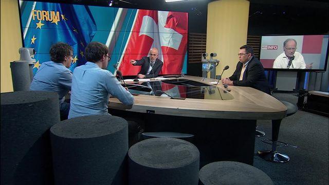 Le Conseil fédéral et l'Europe: débat entre Roger Nordmann, Laurent Wehrli et Yves Nidegger [RTS]