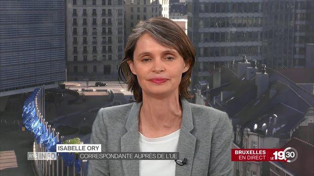 Accord-cadre entre la Suisse et l'UE, l'éclairage à Bruxelles d'Isabelle Ory. [RTS]