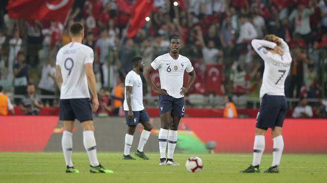 Olivier Giroud, Paul Pogba et Antoine Griezmann n'ont pas résisté à la Turquie.