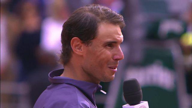 Finale, D. Thiem (AUT) - R. Nadal (ESP) 3-6, 7-5, 1-6, 1-6: la joie de l'Espagnol au micro [RTS]