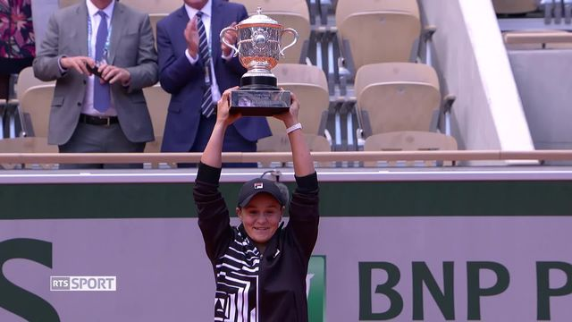 Tennis: la première victoire d'Ashleigh Barty en Grand Chelem à Roland-Garros [RTS]