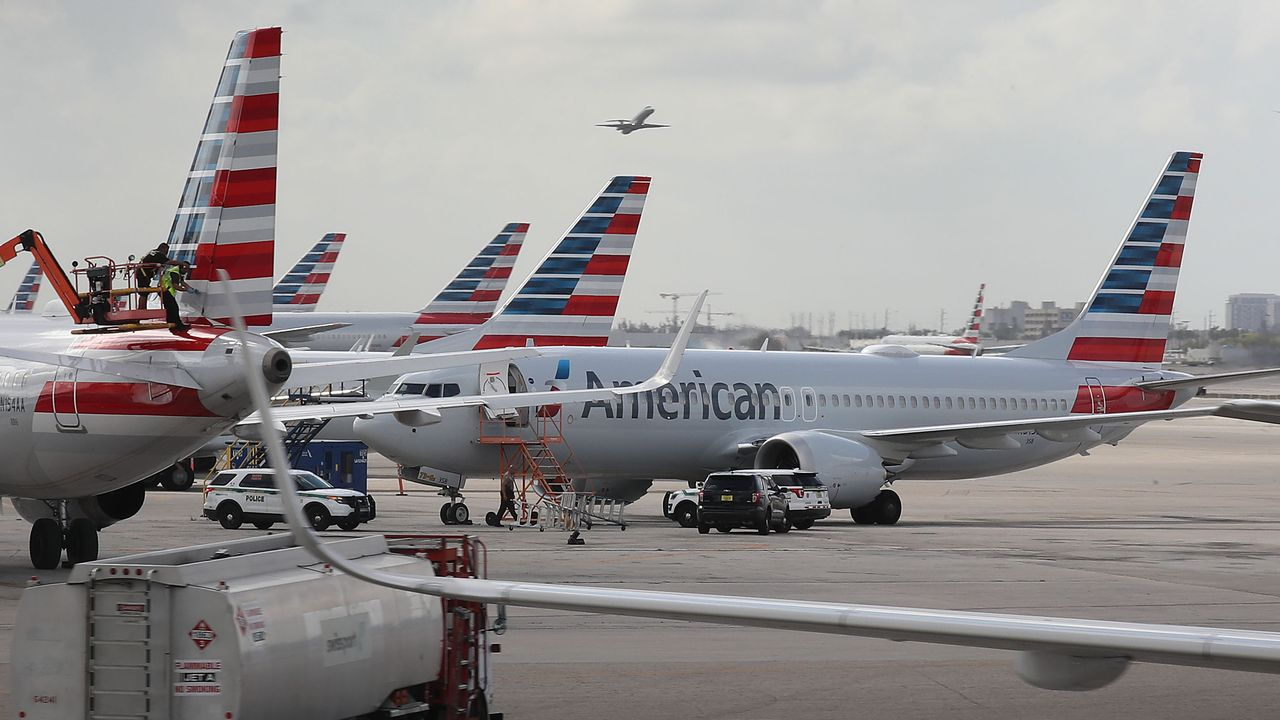 Avec 24 Boeing 737 MAX dans sa flotte, American Airlines est la 2ème compagnie la plus touchée par le grounding imposé à cet appareil. [Joe Raedle - AFP]