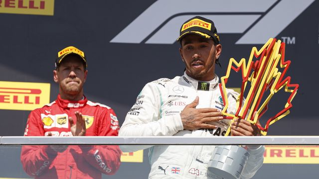Lewis Hamilton a triomphé pour la 7e fois au Canada. [Valdrin Xhemaj - Keystone]