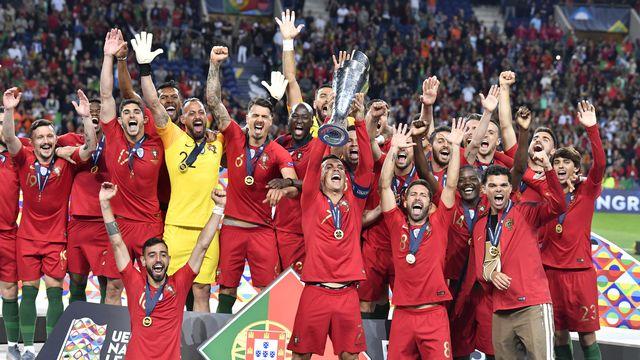 Le Portugal est la première équipe à inscrire son nom au palmarès de la Ligue des nations. [Martin Meissner - Keystone]