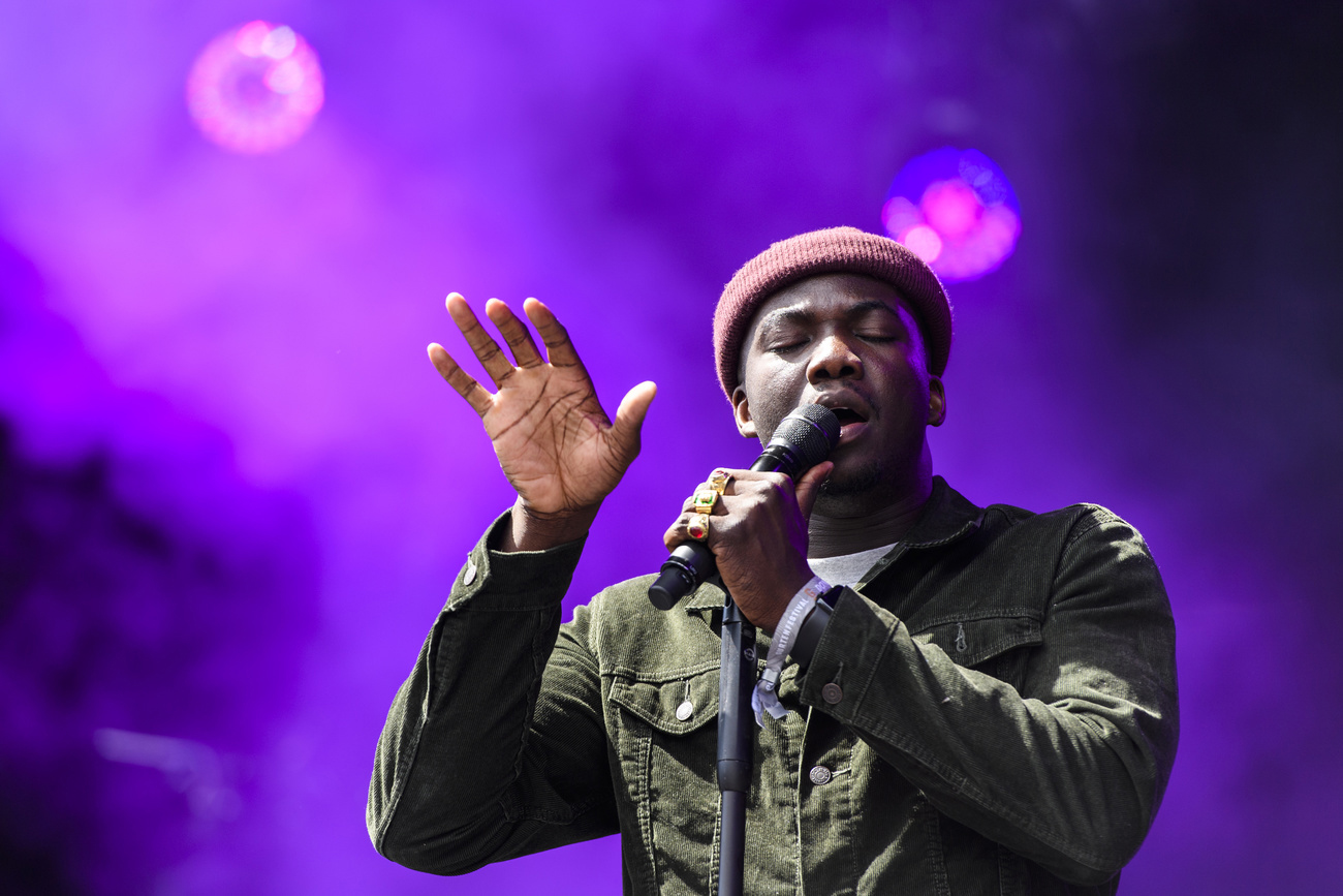 Jacob Banks au Gurten festival 2018.