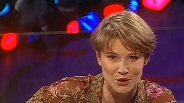 Maïtena Biraben dans l'émission Ca colle et c'est piquant. [RTS]