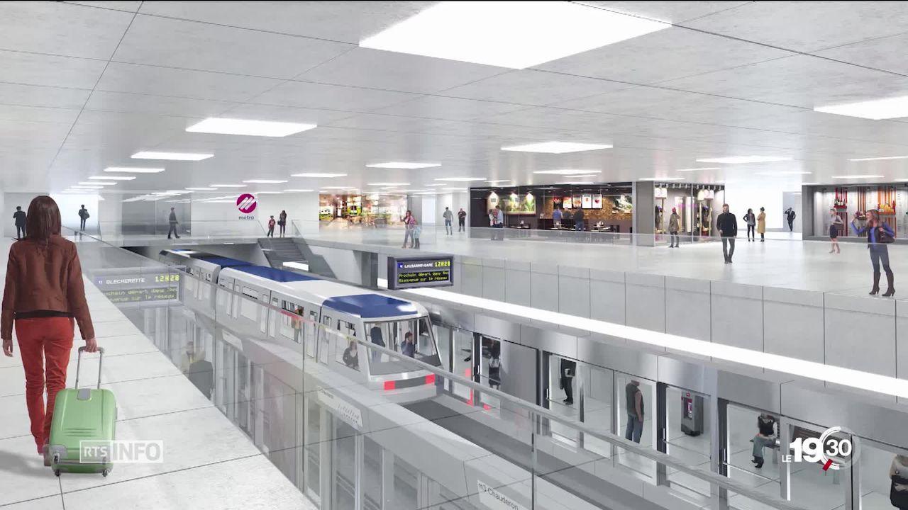 Vaud demande un premier crédit de 154 millions de francs au Grand Conseil pour développer les métros lausannois. [RTS]