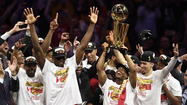 Toronto est la première équipe non-américaine à remporter le titre en NBA. [Frank Gunn - Keystone]