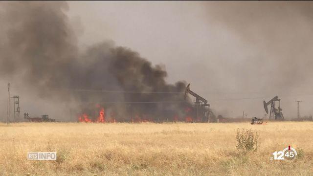 Le groupe État islamique revendique les nombreux incendies touchant les cultures de blé en Syrie. [RTS]